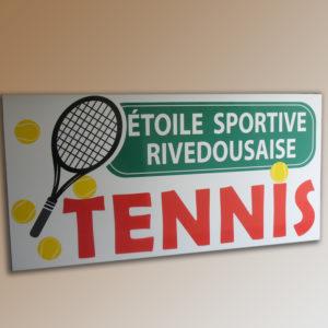 panneau pour entrée association tennis