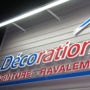 enseigne magasin de décoration